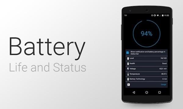Hình ảnh minh họa dành cho ứng dụng Battery Life trên Android.