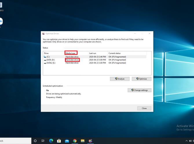 Optimize Drives - Kiểm tra ổ cứng là SSD hay HDD