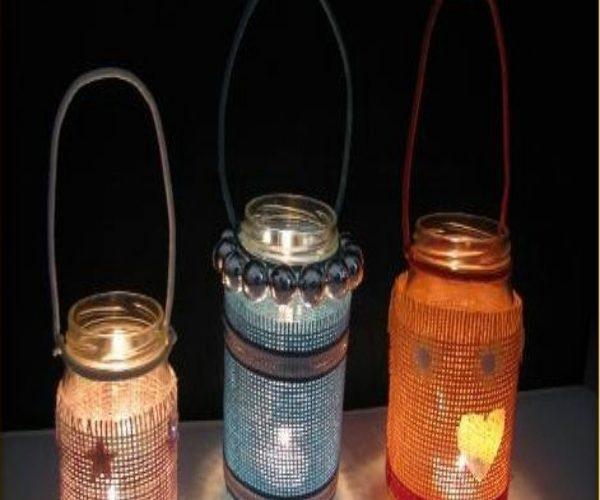 Sáng tạo với đèn lồng bằng thủy tinh