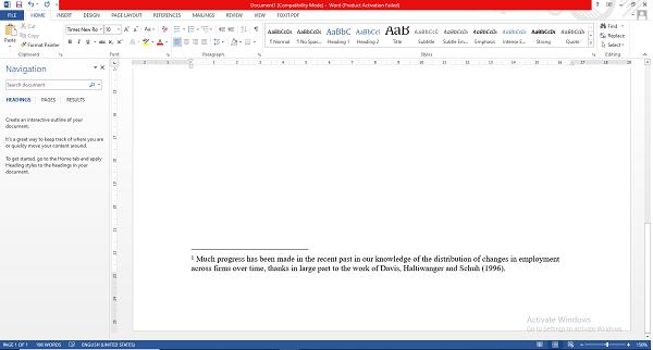 Kết quả tạo footnote theo cách 1