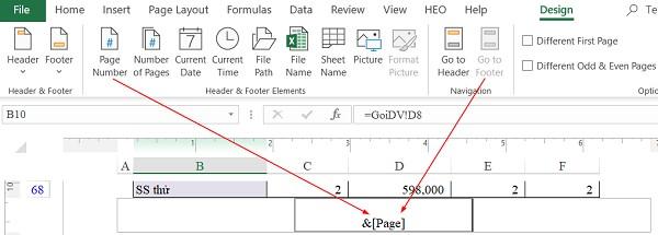 Cách đánh số trang trong excel 2010 theo ý muốn qua thẻ Insert