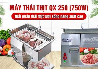 (Máy thái thịt QX 250 NEWSUN - giải pháp thái thịt tươi sống năng suất cao)
