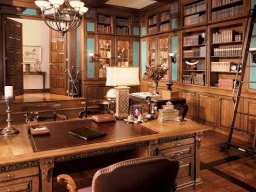 Văn phòng lấy nguyên liệu chính là gỗ