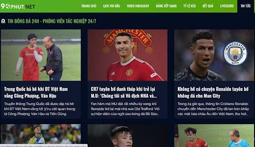 Tại đây bạn có thể xem được tin tức bóng đá mới nhất